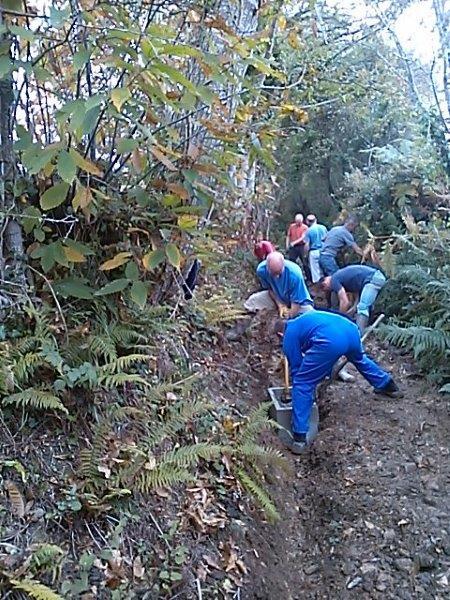 Travaux de drainage le 17 octobre, chemin de Hellen